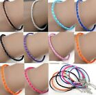 3mm Braided Leather Anklet / Bracelet, Friendship/Surf Band, Choice Of Colours
