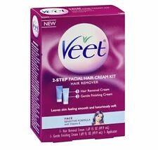 VEET 2-Step Facial Hair Cream Kit, 1 kit