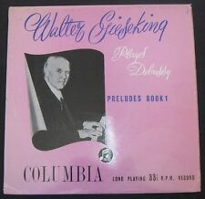 Walter Gieseking - Debussy Preludes Book 1 Columbia 33CX 1098 lp EX-