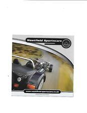 WESTFIELD SPORTS CARS FULL RANGE KIT CAR SALE BROCHURE FROM @ 2010