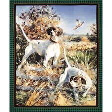 Les chiens wall hanging quilting panneau de tissu de coton-point ailes sauvage du nord