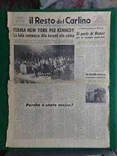 IL RESTO DEL CARLINO 8/6/1968 , NEW YORK FERMA PER KENNEDY , LA SALMA