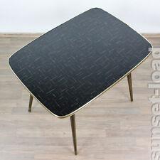 Couch Beistell Tisch 80x58x64 Schwarz Vintage Coffee Side Table 50er Jahre Top