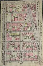 ORIGINAL 1912 G.W. BROMLEY, COLONIAL PARK, HARLEM, MANHATTAN NY PLAT ATLAS MAP