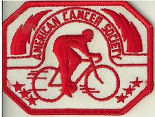 Vintage 1970s American Cancer Society Bicycling Cloth Patch - Mint -