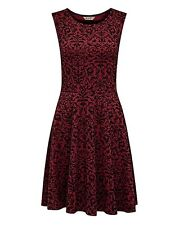 JOE BROWNS FLOCKED devore skater dress size uk 16 bnip