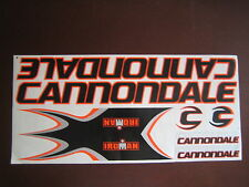 Cannondale Stickers  Black, Orange & Silver.