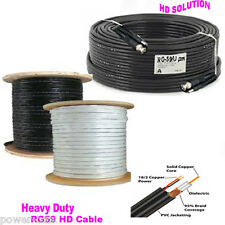 65ft Premade RG59 Combo Siamese CCTV Coaxial BNC Cable for HD Security Camera