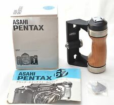 Unused item!!【MINT】PENTAX Wood Hand Grip for 6x7 67 II With BOX From Japan #J27