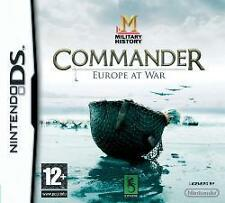 Nintendo DS 3ds COMMANDER EUROPE AT WAR carri armati generale * COME NUOVO
