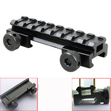 "HOT 1/2"" 8 Slot Medium Riser 20mm WEAVER PICATINNY Base/Scope Mount Rail"