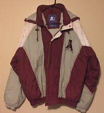 Rare Vintage Alabama Crimson Tide Hooded STARTER Puffy Jacket Size M Roll Tide