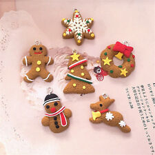 Set of 6 Gingerbread Christmas Tree Hanging Decoration Table Crackers Gifts A10