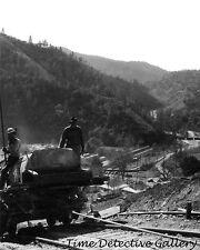 Electra Powerhouse Penstock Construction (2) Amador, Calif. - 1950s Photo Print