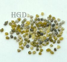 5 quilates + 2.20mm Gris Amarillo Suelto diamantes en bruto 100% natural sin cortar crudo £ 16.99!