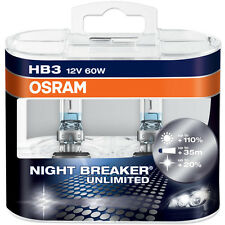 OSRAM New! - Night Breaker Unlimited HB3 9005 (Pair)  110% Improvement Germany!