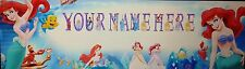 "FREE ARIEL PICTURE  ART/POSTER /BANNER/PICTURE  W/ YOUR NAME 30""X8.5"""