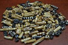 1000+ PCS ASSORT ROUND TUBE BROWN BUFFALO BONE BEADING BEADS 2 LBS #T-491