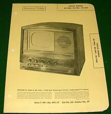 1949 Service Manual Photofact for Philco 48-1000, 1001, 1050 Television Receiver