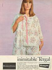 Publicité Advertising 1966  Samaritaine Lingerie Tergal pyjama robe de nuit