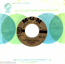 "7"" - LOU CHRISTIE - LIGHTNIN' STRIKES - MADE IN U.S.A. BY MGM GOLDEN CIRCLE *VG+"