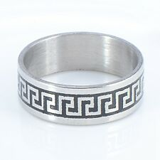 Great Wall Silver Plated Band Ring Size 8.5 Wedding Fashion Small Hot