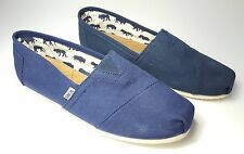 size 11 Toms Classic Navy Sneakers Slip On Flats Womens Shoes
