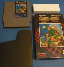 Commando NINTENDO NES W/ BOX AND GAME CARTRIDGE video 1986