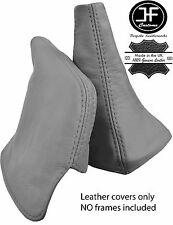 GREY REAL LEATHER SHIFT BOOT & E BRAKE BOOT FITS TOYOTA SUPRA MK3 1986-1992