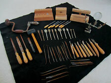 Huge Lot Vintage Wood Working Clay Carving Tools Yamaha Drill Bits Files Hammer