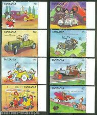 TANZANIA  DISNEY CARS  SCOTT#570/77  SET MINT NH