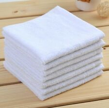 1 Pièce Serviette De Toilette Draps Bain En Coton Visage Blanc