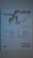 Sony spp-a40 a60 service manual original repair book cordless phone