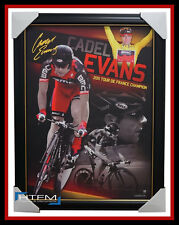 Cadel Evans 2011 Tour De France Champion Facsimile Official Signed Print Framed