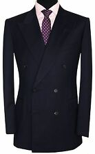 GIEVES HAWKES SAVILE ROW MENS FULL CANVAS SUPER 150 DOUBLE BREASTED SUIT 40R W34