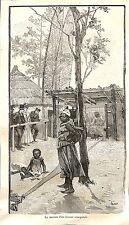 PARIS EXPOSITION UNIVERSELLE WORLD FAIR 1889 SENEGAL MAISON TISSEUR GRAVURE