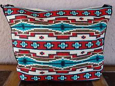 Canvas Stencil Purse HIPC-156 Southwest Southwestern Design Sturdy Cotton Bag