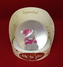 ME TO YOU BEAR TATTY TEDDY WINTER PINK HAT & SCARF PAPERWEIGHT GIFT