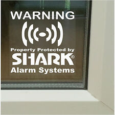 6 X propiedad security-shark alarma sistema warning-window stickers-home, Negocio