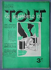 ► TOUT LE SYSTEME D N°31 - 1937 - T.S.F. INVENTIONS - ELECTRICITE - RECETTES