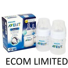 Philips Avent Twin 2X 125ML Classic Plus + 4oz Bottle Feeding Less Colic / free