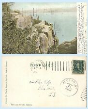 Aerial View Palisades Hudson River New Jersey UDB 1906 Postcard - Geology