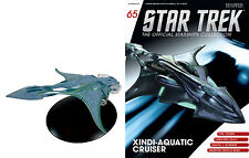 Eaglemoss Diecast STAR TREK ST0065 XINDI AQUATIC SHIP w/MAGAZINE #65