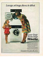 PUBLICITE ADVERTISING 064  1984  MIELE   lave linge sèche linge