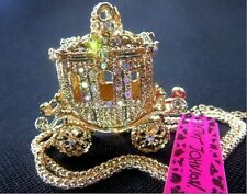 New Betsey Johnson fashion golden carriage pendant necklace!US