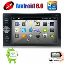 Android 6.0 Double Din Car Stereo Radio GPS Navigation Wifi 4G/3G OBD2 HD BT DVD