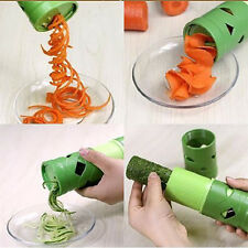 1 Green Compact Vegetable Spiral Cutter Fruit Slicer Processing Kitchen Gadget