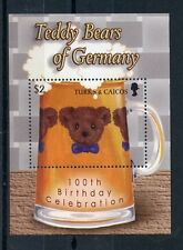 Turks & Caicos 2003 MNH 100th Anniv Teddy Bears of Germany 1v S/S Stamps