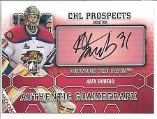 ALEX DUBEAU 2012-13 ITG Between the Pipes GOALIEGRAPH AUTO #A-AD