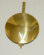 Brass Faced Lead Tall Case Clock Pendulum Bob and Rating Assembly